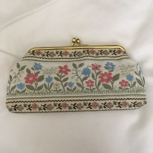 Vintage hand Embroidery coin purse